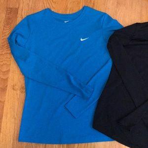 Nike Running long sleeve shirts.